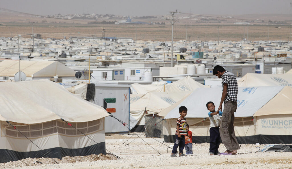 Zaatari refugee camp in Jordan